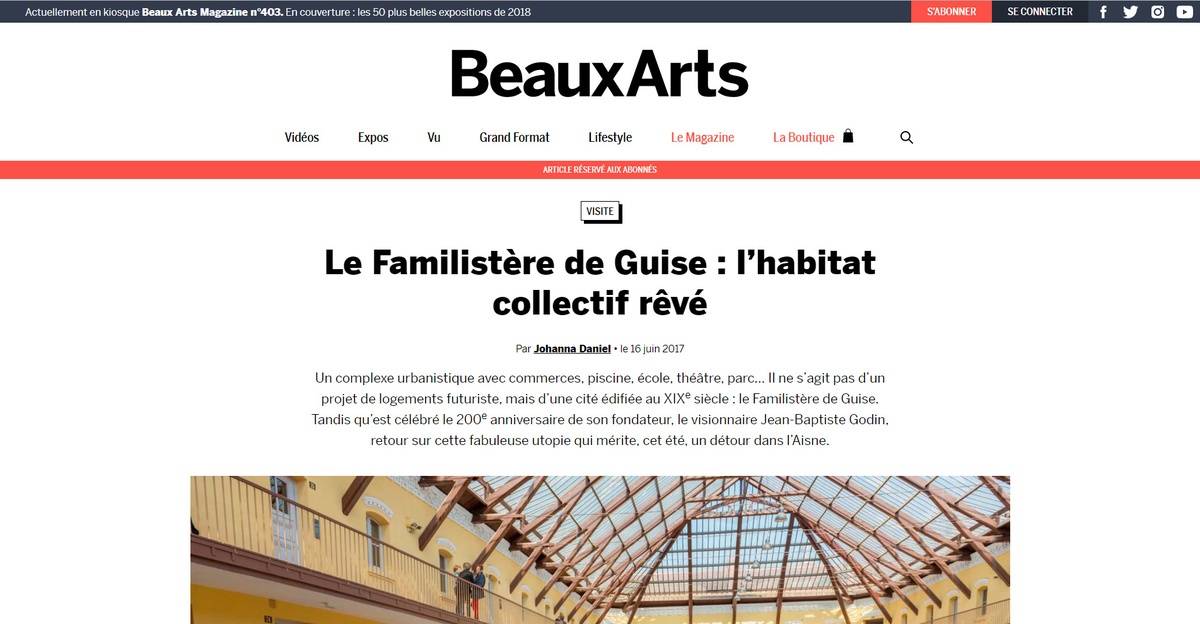 Aperçu article du beaux-arts magazine