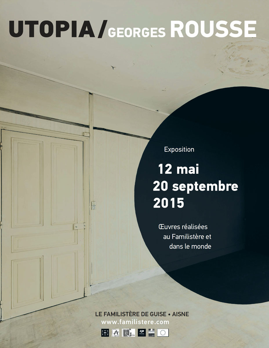 Affiche de l'exposition « Utopia / Georges Rousse ».