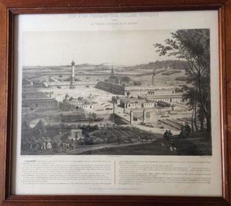 Vue d'un phalanstère, village français (image)