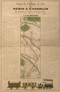 Carte du chemin de fer de Paris à Saint-Germain (image)