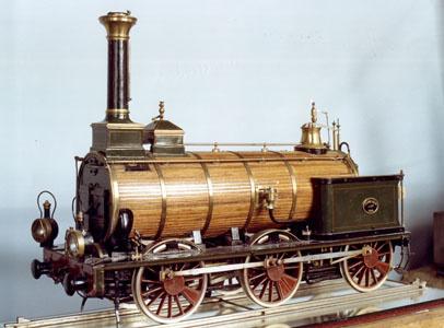 Maquette d'une locomotive à vapeur de type 030 à six roues couplées (image)