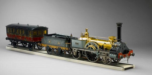 Maquette d'un train de la Compagnie du chemin de fer d'Orléans (image)