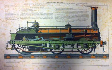 Dessin simplifié des nouvelles locomotives à grande vitesse (image)