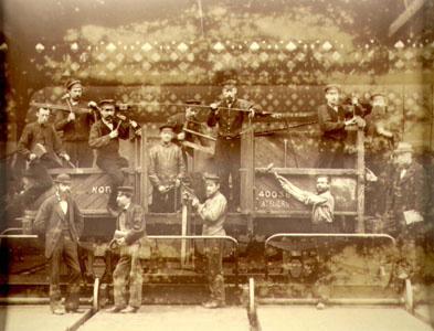 Construction d'un wagon à la Compagnie de Fives-Lille (image)