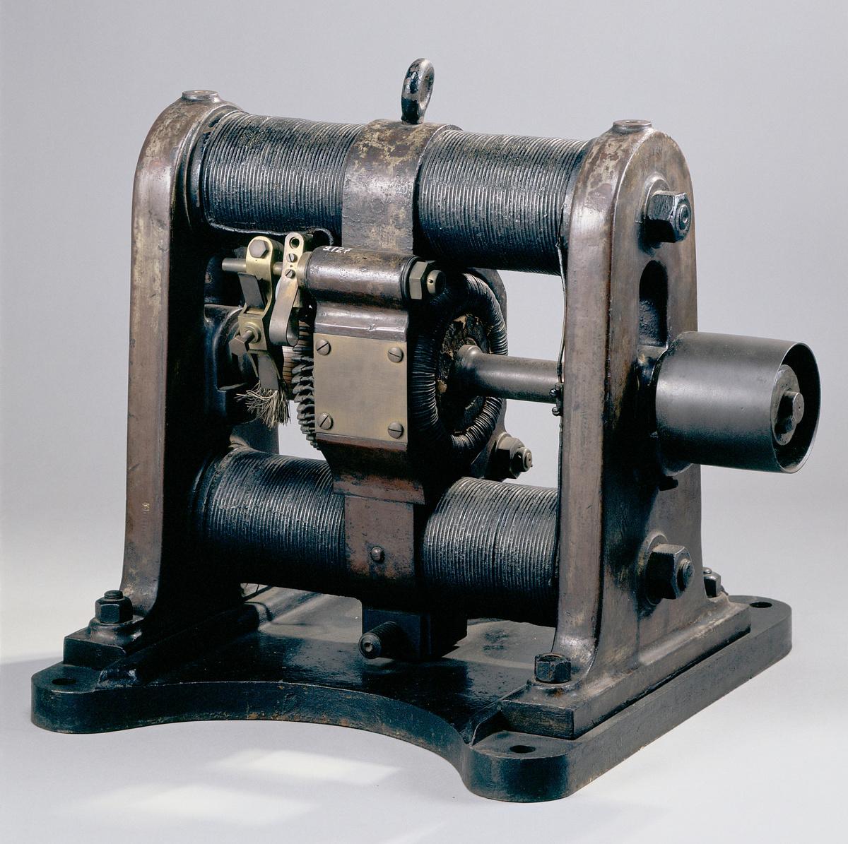 Machine dynamo-électrique à courant continu (image)