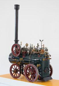 Maquette de locomobile à vapeur (image)