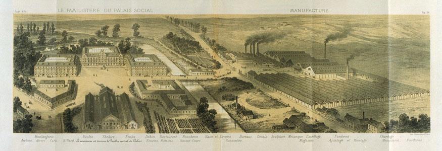 Le Familistère ou Palais social et sa manufacture (image)