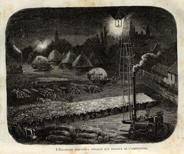 Scène de moisson avec locomobiles à vapeur Albaret (image)