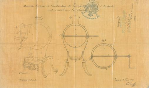 Brevet d'invention d'un système de construction de torréfacteur à café (image)
