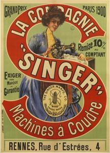 Affiche publicitaire. «La Compagnie Singer – Machines à coudre» (image)