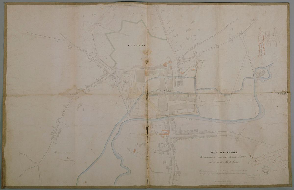 Plan de la ville de Guise, 1846.