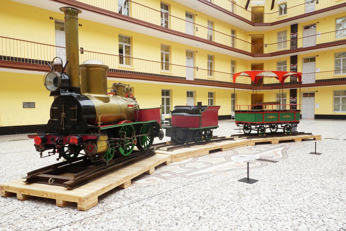 Chemin de fer forain à vapeur dit «Petit Train de Remilly» (image)