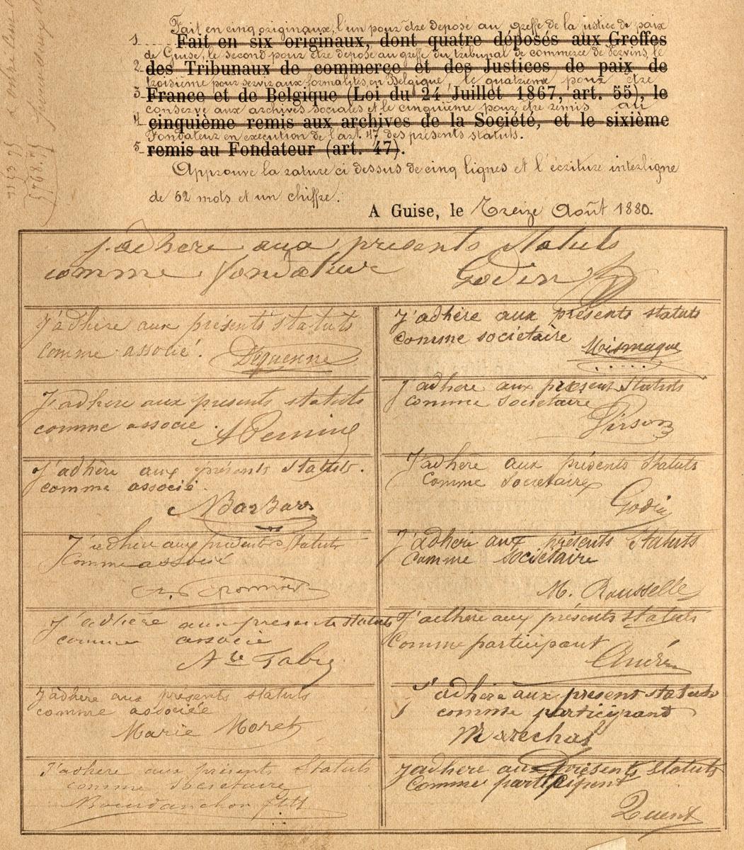 Les premiers membres de l'Association coopérative ont signé les statuts.