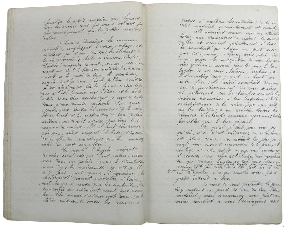 Les conférences de Godin ont été transcrites par Marie Moret.