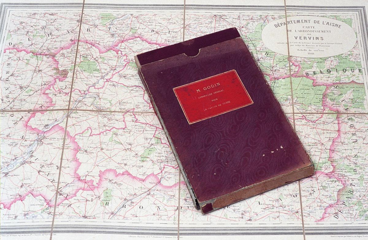 Cette carte de l'arrondissement de Vervins a appartenu à Godin