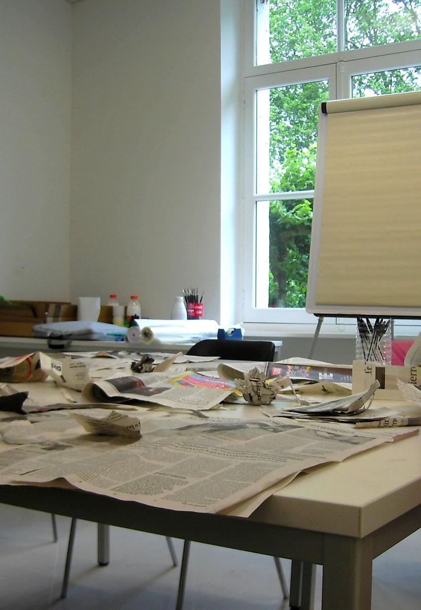 L'Appartement éducatif du pavillon central accueille les ateliers.
