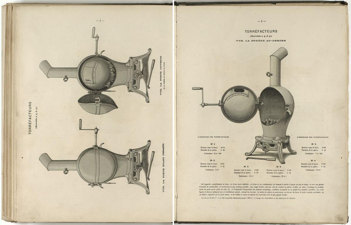 La série des torréfacteurs est présentée dans l'album de 1867 des fonderies et m