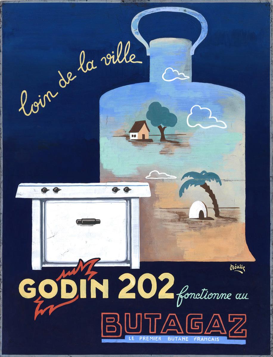Le dessin représente un réchaud devant une bouteille de gaz sur laquelle est pei
