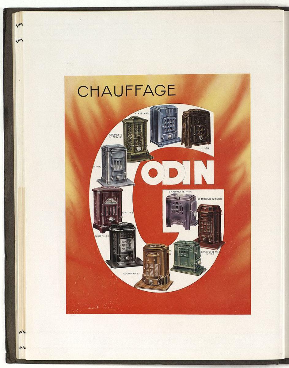 """La page du catalogue, en couleur, présente les foyers hygiéniques autour du """"G"""