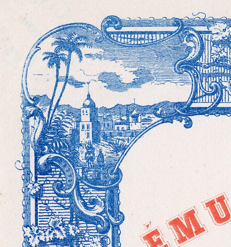 La vignette en haut à gauche de la bordure montre une ville islamique.