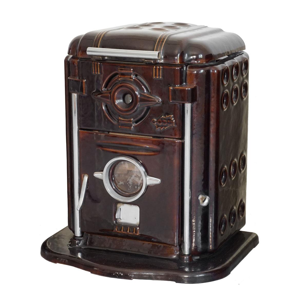 L'appareil de chauffage est photographié de trois-quarts.