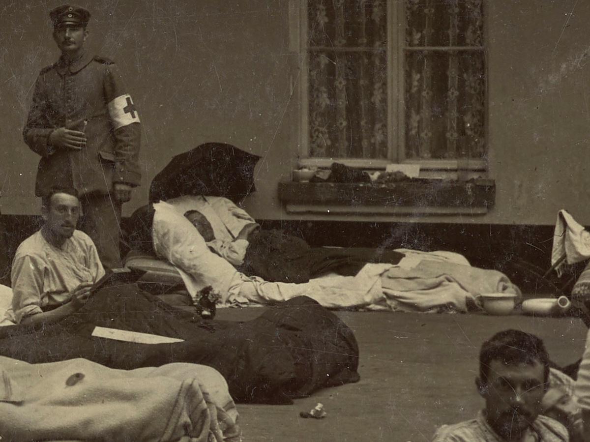Détail montrant des blessés.