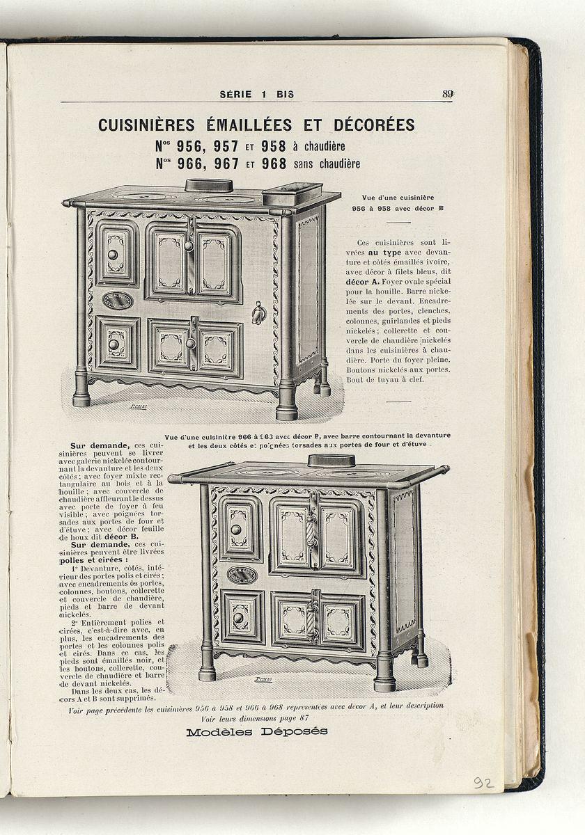 Vue d'une page de l'album de 1914 montrant l'illustration de la cuisinière ident