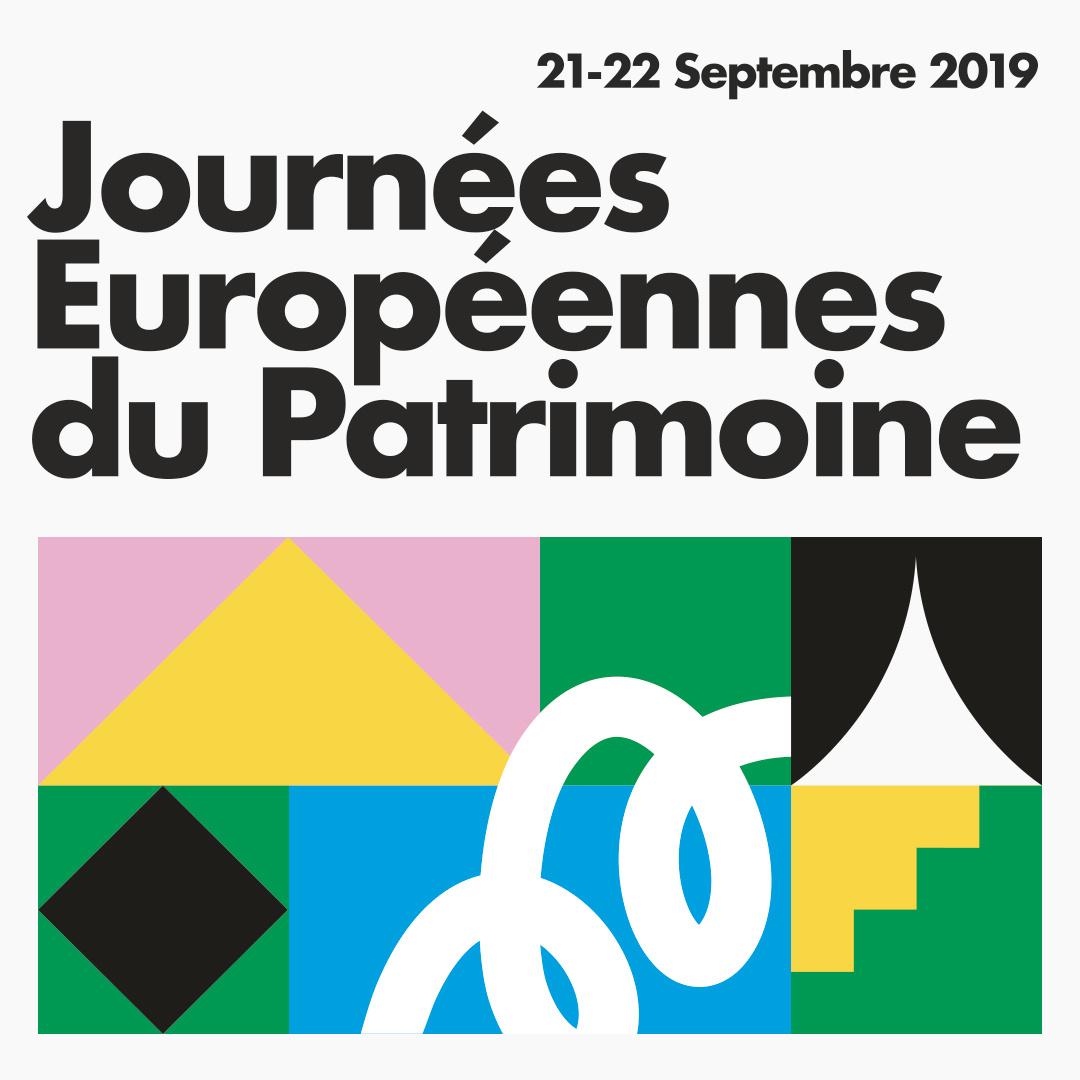 Affiche des Journées européennes du patrimoine 2019