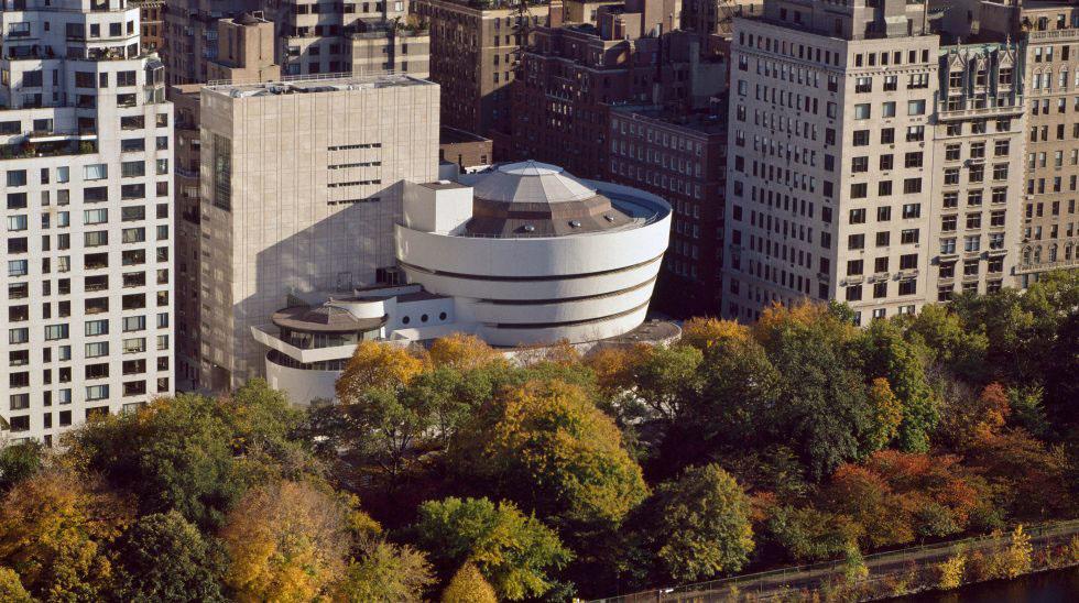 Vue extérieure du musée Guggenheim de New York