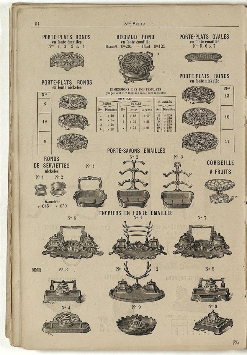 L'encrier n° 1 dans le catalogue de 1880 de la Société du Familistère