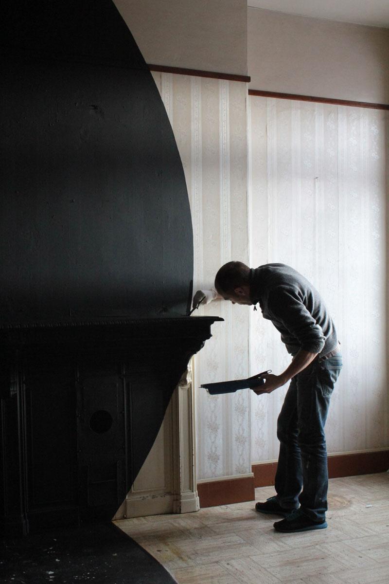 Installations de Georges Rousse au Familistère de Guise, 2014-2015.