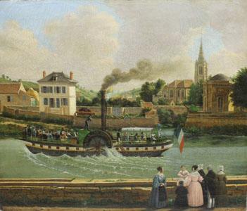 Le bateau à vapeur Le Ville de Compiègne (image)
