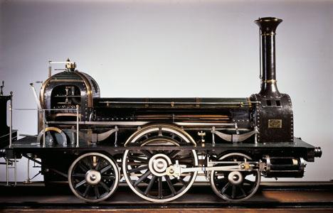 Maquette de locomotive à vapeur Stephenson type 111 Long Boiler (image)