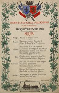 Menu du banquet d'inauguration du chemin de fer (image)