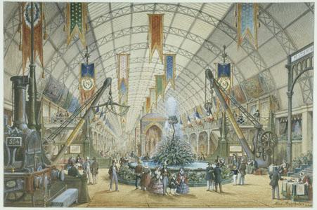 Exposition universelle, Paris, 1855 : vue intérieure de la Galerie des machines