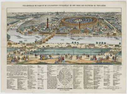 Vue générale de Paris et de l'Exposition universelle de 1867 (image)