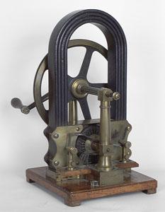Maquette de démonstration de la dynamo électrique de Zénobe Gramme (image)