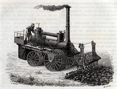 Piocheuse à vapeur de MM. Barrat Frères (image)
