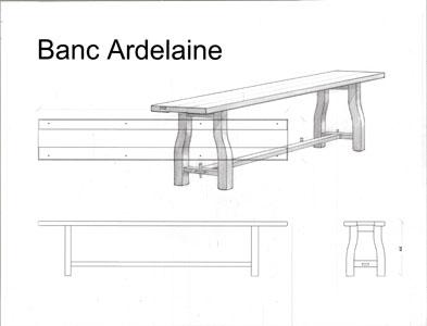 Dessin banc Ardelaine (France)