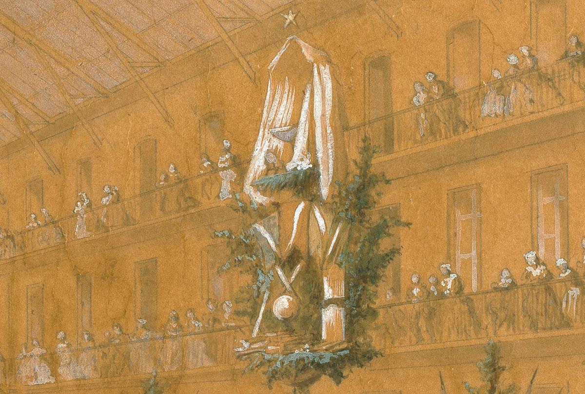 La fête du Travail dans la cour du pavillon central