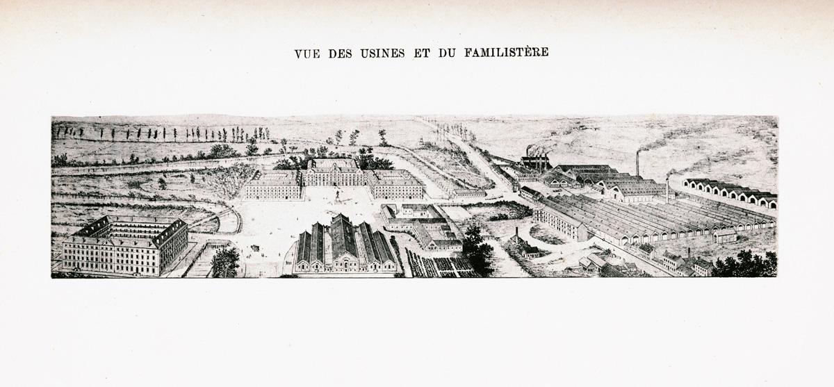 Vue des usines et du Familistère