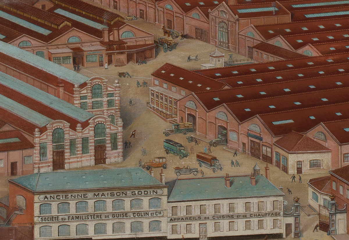 Vue de l'usine du Familistère de Guise (détail)
