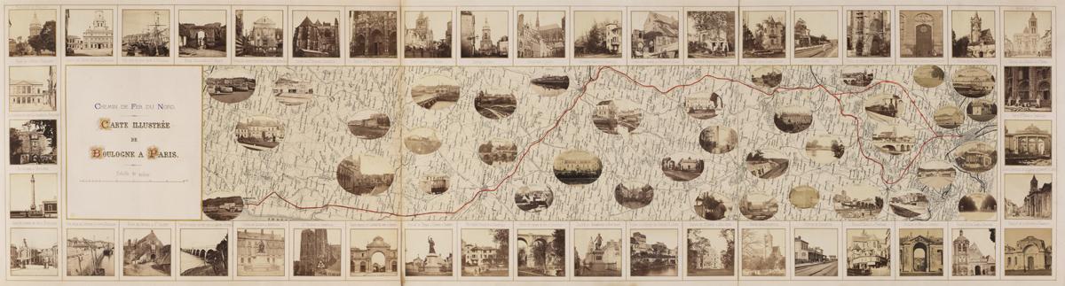 Carte illustrée de Boulogne à Paris (image)