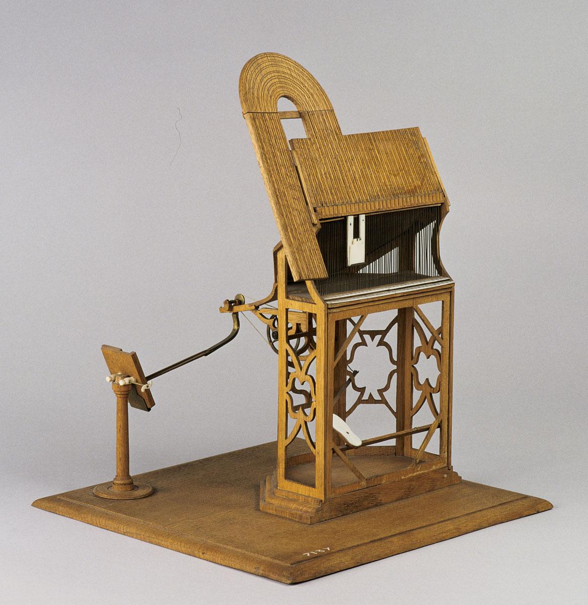 Maquette du pianotype ou machine à composer (image)