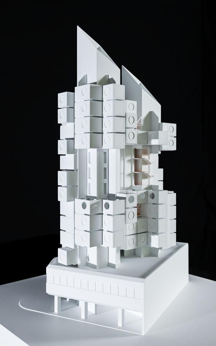 Maquette de Nagakin Capsule Tower à Tokyo