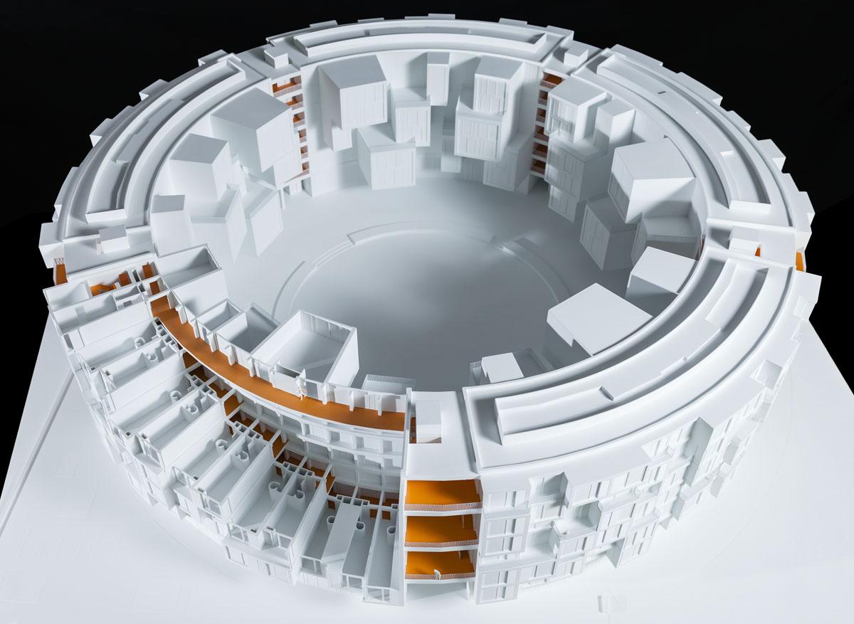 Maquette de Tietgenkollegiet à Copenhague.