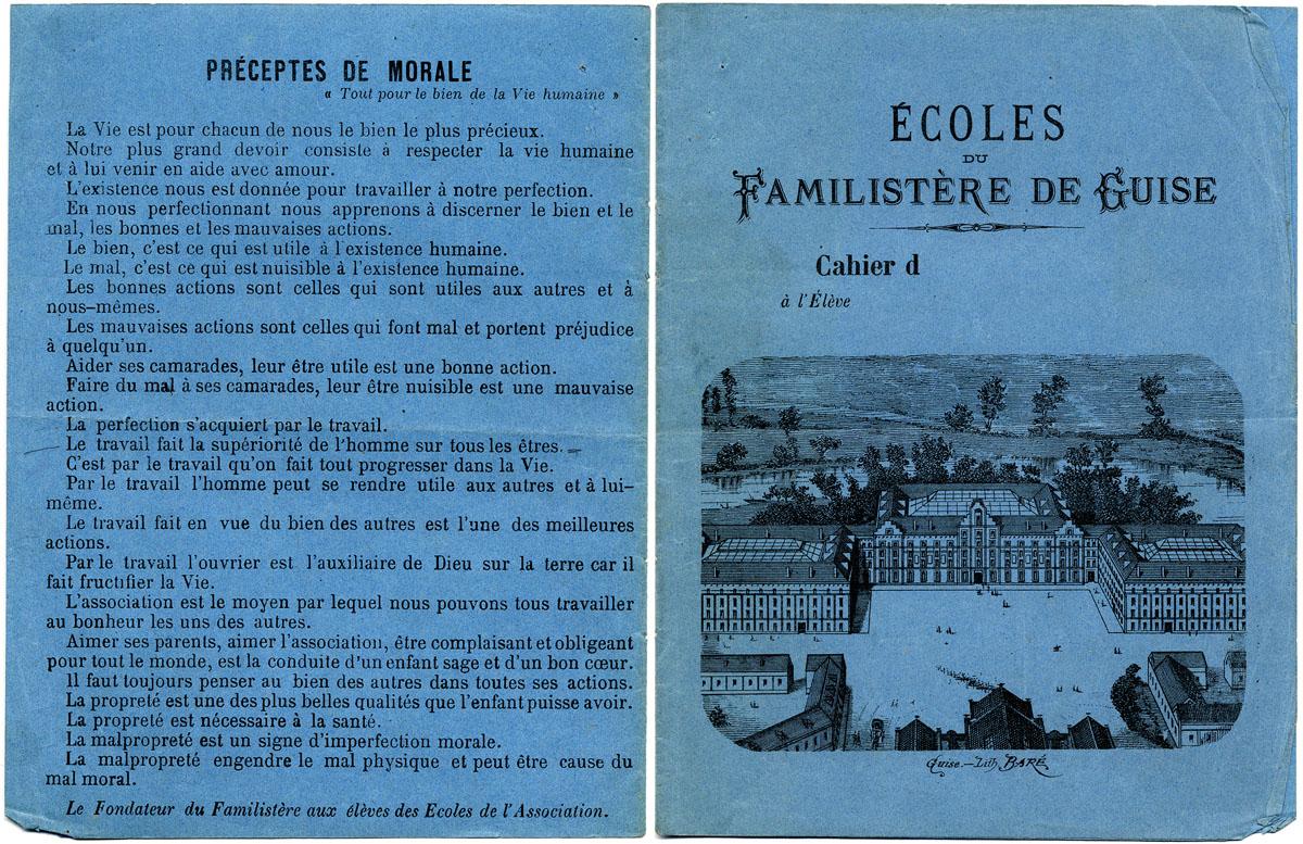 Couverture de cahier des écoles du Familistère de Guise