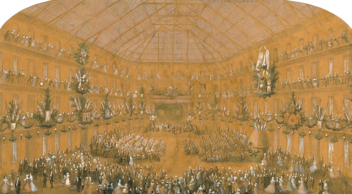 La première fête du Travail du Familistère dans la cour du pavillon central