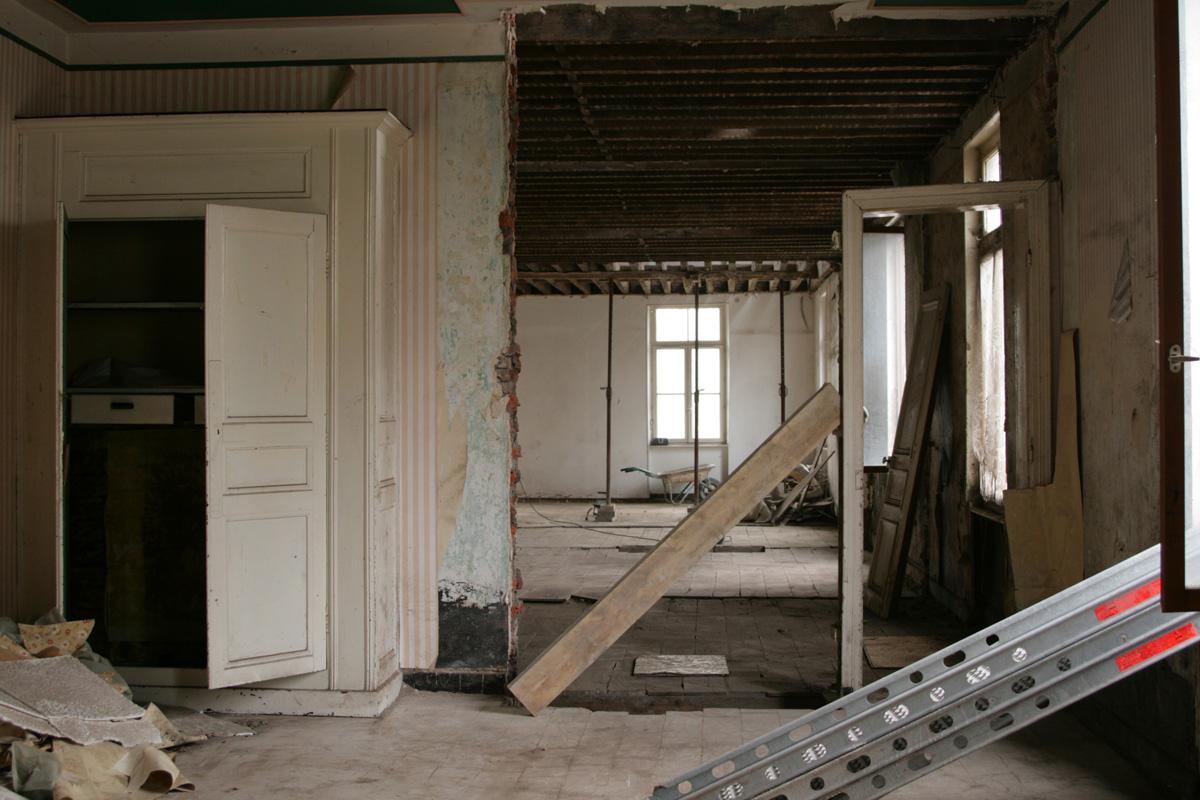 Les appartements du pavillon central sont transformés pour le musée.