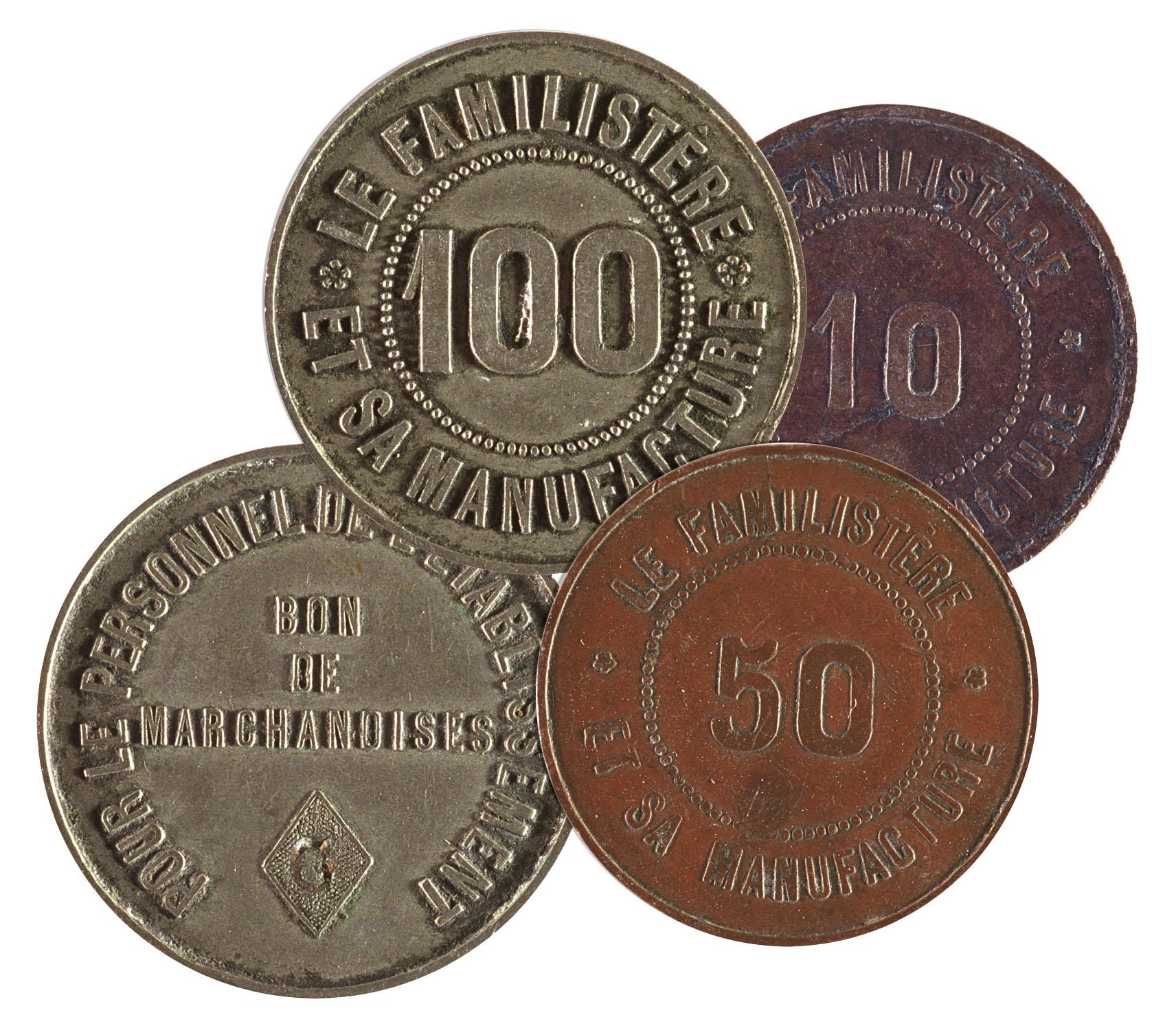 Ces bons de marchandises étaient une monnaie du Familistère.
